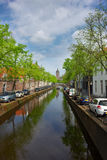 Old town of Delft in spring, Holland Royalty Free Stock Photo