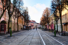 Old Town district in the fall time. Kaunas, Lithuania. Stock Photography