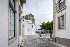 Old town district in Faro, Portugal Royalty Free Stock Images