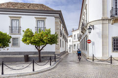 Old town district in historic town Faro, Portugal Royalty Free Stock Photos