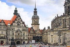 Old Town a Dresden, Germany. Stock Photo