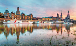 The old town of Dresden with the Hofkirche Royalty Free Stock Photo