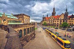 Old town of Dresden before storm Stock Photography
