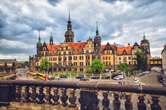 Old town of Dresden before storm Royalty Free Stock Photos