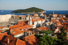 Old Town in Dubrovnik. View at the Old Town in Dubrovnik from the walls Stock Photo