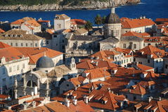 Old Town in Dubrovnik. View at the Old Town in Dubrovnik from the walls Stock Image