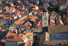 Old Town in Dubrovnik. View at the Old Town in Dubrovnik from the walls Stock Photography