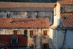 Old Town in Dubrovnik. View at the Old Town in Dubrovnik from the walls Stock Images