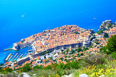 Old town of Dubrovnik from above Royalty Free Stock Images