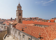Old town Dubrovnik, Croatia. Main court of old town Dubrovnik with many old red roofed windows, Croatia Stock Photo