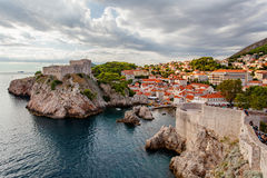 The Old Town of Dubrovnik, fortress lovrijenac Stock Photo
