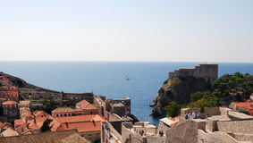 Old town of Dubrovnik, Croatia. Balkans, Adriatic sea, Europe. Beauty world. Stock Images