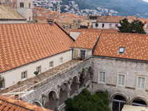 Old town Dubrovnik Croatia, well kept medieval stone buildings Stock Image