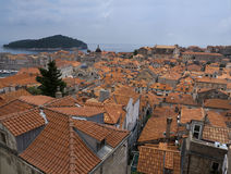 Old town Dubrovnik Croatia, well kept medieval stone buildings Royalty Free Stock Photos