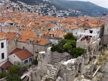 Old town Dubrovnik Croatia, well kept medieval stone buildings Stock Photography
