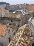 Old town Dubrovnik Croatia, well kept medieval stone buildings Stock Images