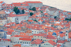 The Old Town of Dubrovnik in the evening, Croatia Stock Images