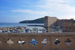 Old town Dubrovnik harbour Stock Image