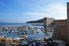 Old town Dubrovnik harbour Royalty Free Stock Photo