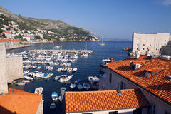 Old town Dubrovnik harbour Royalty Free Stock Image