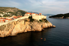 The old town in Dubrovnik, King`s landing Royalty Free Stock Images
