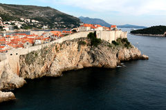 The old town in Dubrovnik, King`s landing.  stock images