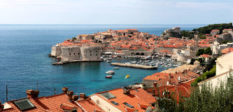 The old town in Dubrovnik, King`s landing.  royalty free stock image