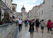 Old town in Dubrovnik. Old part of Dubrovnik, Croatia Royalty Free Stock Photography