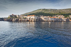 Old Town Dubrovnik. At sea Royalty Free Stock Image