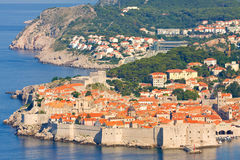 The Old Town of Dubrovnik, sunrise, early morning,  Croatia Stock Photos