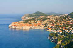 The Old Town of Dubrovnik, sunrise, early morning,  Croatia Royalty Free Stock Photos