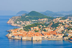 Old Town of Dubrovnik, sunrise Stock Images
