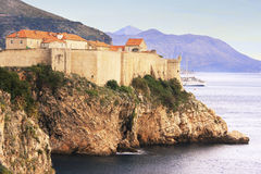Old town of Dubrovnik at sunset Stock Photos
