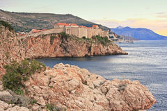 Old town of Dubrovnik at sunset Royalty Free Stock Image