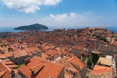 Old town of dubrovinik, croatia stock photos