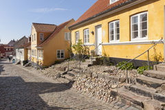 Old town of Ebeltoft, Denmark Royalty Free Stock Images