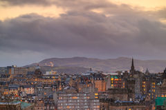 Old town Edinburgh and Edinburgh castle Royalty Free Stock Photo