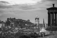 Old town Edinburgh and Edinburgh castle Royalty Free Stock Photos