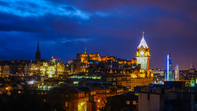 Old town Edinburgh and Edinburgh castle in Scotland Royalty Free Stock Image