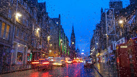 Old town Edinburgh and Edinburgh castle in Scotland Royalty Free Stock Photography