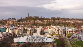 Old town Edinburgh in Scotland Stock Image