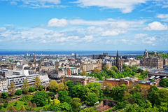 Old Town in Edinburgh in Scotland Royalty Free Stock Photo