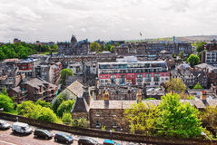 Old Town of Edinburgh in Scotland Stock Photography