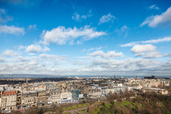 Old Town in Edinburgh in Scotland. View from the Edinburgh Castle. It is the capital of Scotland in the United Kingdom Stock Image