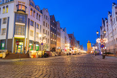 Old town of Elblag at night Stock Photo