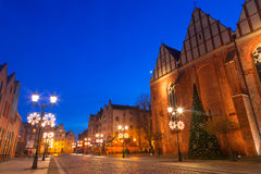 Old town of Elblag at night Royalty Free Stock Images