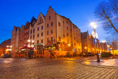 Old town of Elblag at night Stock Photography