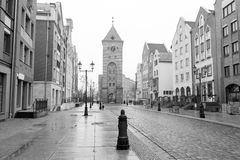 Old town of Elblag, Poland. Old town of Elblag in black and white, Poland Royalty Free Stock Photos