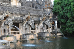 Old town with elephants Stock Photos
