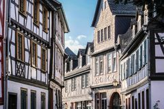 Old town of Eltville. Rheingau, Hesse, Germany Stock Photos